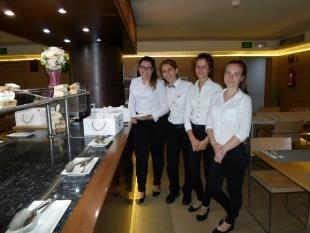 Patrycja, Ludmiła oraz Paulina na praktykach w Hotel Silken Puerta Valencia
