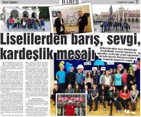 Artykuł opublikowany w Tureckiej gazecie